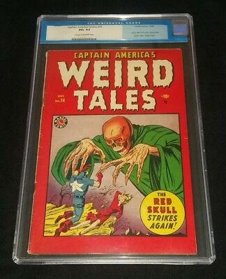CAPTAIN AMERICA COMICS #74 ~ CGC ~CLASSIC RED SKULL Cvr ~ WEIRD TALES ~ TIME PAY
