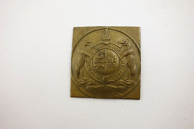 Antique Fur Trade Brass Seal Medal Missouri Coat of Arms Native American