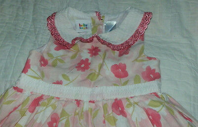 Baby Togs Pink Daisy Floral Sundress- Girls 2T - Pre-Owned