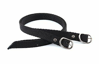 NYLON SPUR STRAPS  black  SOLD AS A PAIR  One size