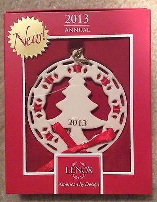 FREE S&H Lenox 2013 Christmas Wrappings Christmas Tree Ornament New In Box