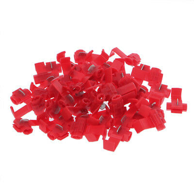 50x Red Scotch Lock Wire Electrical Connectors Cable Quick Splice For 22-18AWG