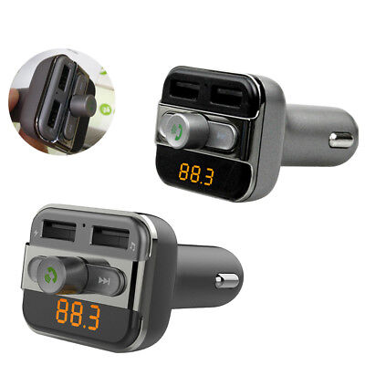 Car MP3 Audio Player FM Transmitter Wireless Modulator With Dual USB Charger