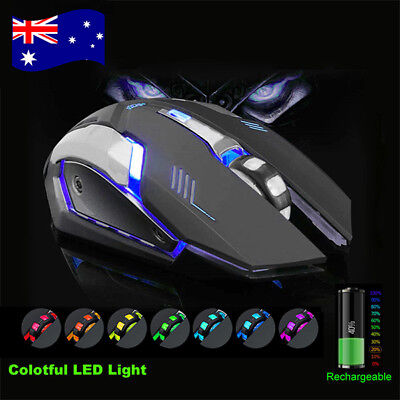2.4GHz Wireless USB Gaming Mouse Optical Ergonomic LED Backlit Light