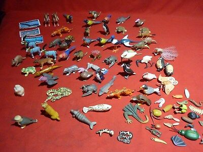 56 Assorted Yowies Frogs Birds Dogs Sea Creatures Marsupials Fish & White Ditty