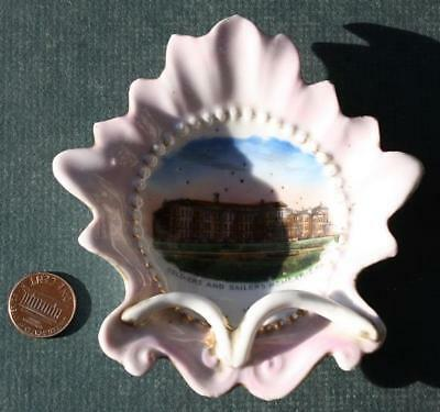 1900-10s Erie,Pennsylvania Old Soldiers & Sailors Home 3-D pipe ashtray-VINTAGE!