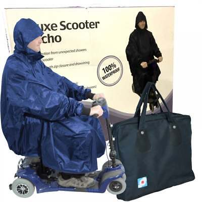 Aidapt Waterproof Light Weight Rain Coat Mobility Scooter Hooded Poncho + Case