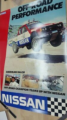 Nissan Off-road performance truck racing poster w/ Sherman Balch