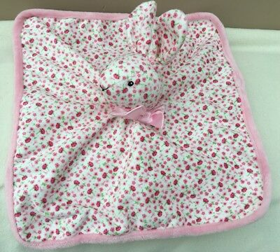 Mothercare Pink Floral Bunny Rabbit Comforter Blankie Soft Toy Baby Girl BNWOT