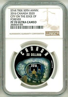 NGC PF69 FIRST RELEASES 2016 SILVER STAR TREK CITY ON THE EDGE OF FOREVER
