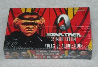 Star Trek Ccg Rules Of Acquisition 30 Pack Booster Box New & Sealed