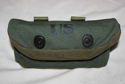 US Military Issue Shotgun Shell 12 Gauge Ammo Pouch OD Green Like Vietnam Type