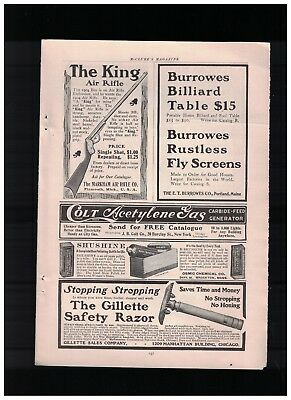 1904 The King Air Rifle Ad From The Markham Air Rifle Co of Plymouth MI