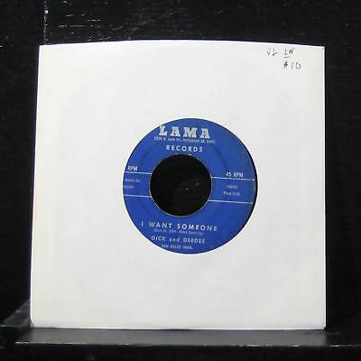 "Dick And Deedee - The Mountain's High / I Want Someone 7"" VG 7778 Vinyl 45"