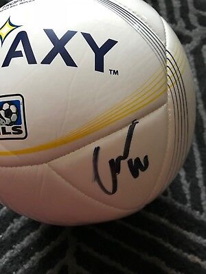 Los Angeles Galaxy Gio Dos Santos Autographed Signed MLS Size 5 Soccer Ball COA