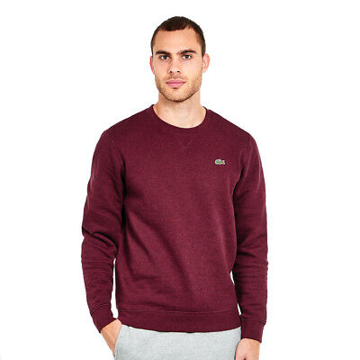Lacoste - Brushed Fleece Sweater Grape Vine Chine Pullover Rundhals