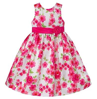 Girls AMERICAN PRINCESS pink white floral boutique party dress 5 6 NWT Easter