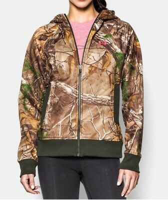 4763e4762a96f MSRP $84 NWT Women's Under Armour Camo Hunting Full Zip Hoodie Jacket  Realtree