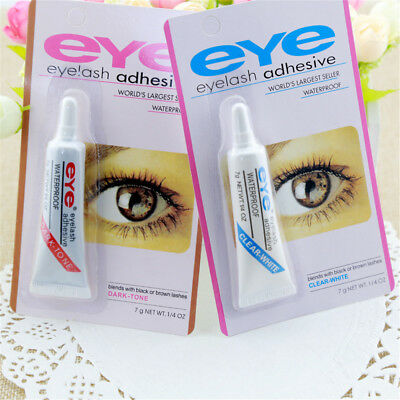 Dark Black Clear Waterproof False Eyelashes Makeup Adhesive Eye Lash Glue JT