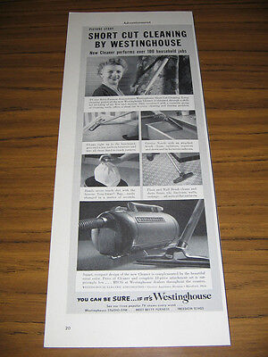 1953 Vintage Ad Westinghouse Short Cut Vacuum Cleaners Actress Betty Furness