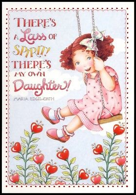 Mary Engelbreit Greeting Card - Valentine's Day for Daughter, Girl in Swing