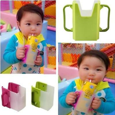 Adjustable Juice Milk Box Drinking Cup Holder Baby Toddler Self-Helper D