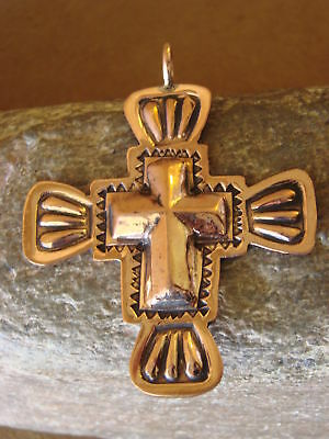 Native american navajo indian jewelry copper cross pendant ronnie native american jewelry copper cross pendant by ronnie willie aloadofball Choice Image