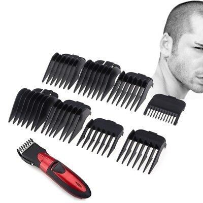 Universal 8Pcs Hair Clipper Limit Comb Guide Attachment Size Barber Replacement