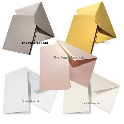 A5 coloured greeting card blanks with white envelopes choose a5 pearlescent card blanks matching envelopes choose colour pack sizes m4hsunfo