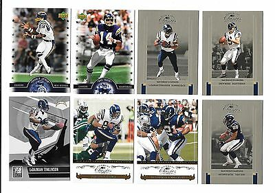 Nfl Football San Diego Chargers Team Lot (38) No Doubles,brees,tomlinson,gates