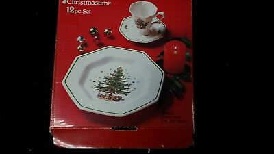 Christmastime 12 Pc. China Set Made in Japan Never used!