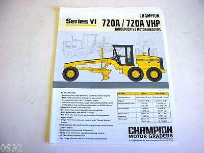 Champion 730A/730A VHP Motor Graders Color Literature        b2
