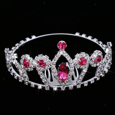 Princess Rhinestone Crown Tiara Headband Woman Wedding Prom Party Headpiece