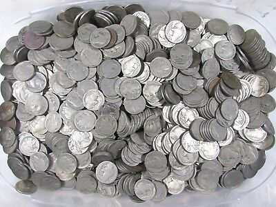 900 Buffalo (Indian Head) Nickels Mixed Five Cent Coin Bulk Lot - NO DATES