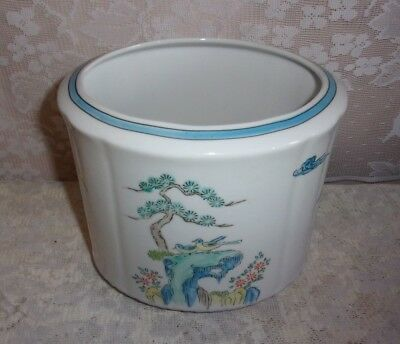Vintage Japanese Isco Porcelain Hand Painted Bonsai Tree Planter