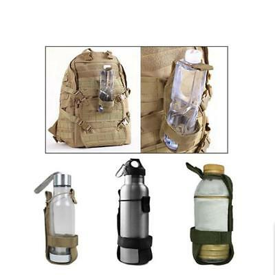 Portable Water Bottle Cup Tactical Military Bag Kettle Pouch Sport Holder CB