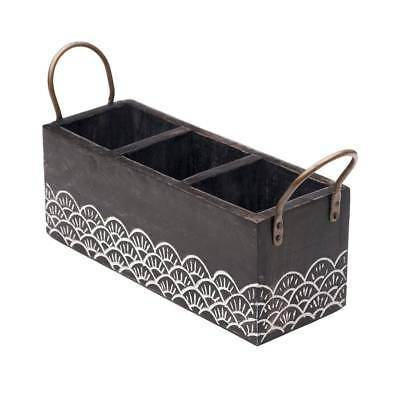 Handcrafted Wood Vasant Flatware Caddy (India)