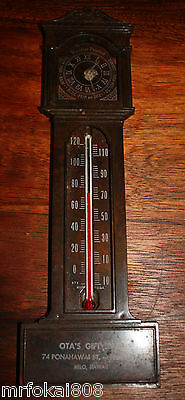 Otas Gift Shop Hilo Big Island Advertising Vintage Thermometer Guage Hawaii