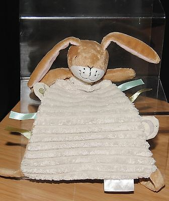 Rainbow Designs Brown & Cream Bunny Rabbit Guess How Much I Love You Blankie
