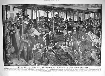 1917 Scene Riviera War Time Wounded Siers Nice France Salonika 070TM195