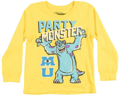 Toddler Monsters Inc Sully Party LS Shirt Yellow Disney Pixar