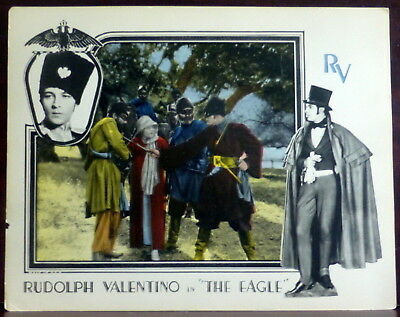 Rudolph Valentino ORIGINAL 1920s Silent Film Lobby Card The Eagle Vilma Banky