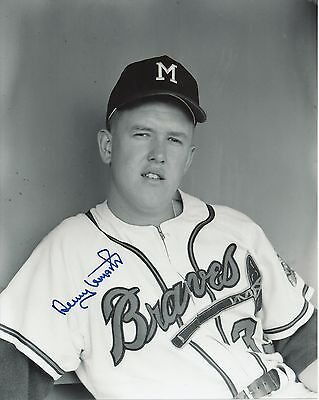 Denny Lemaster 1962-1965 Milwaukee Braves Pitcher Autographed 8x10 Photo COA
