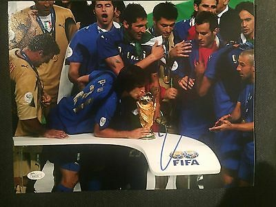 Italy Andrea Pirlo World Cup Autographed Signed 11x14 Photo JSA COA #1