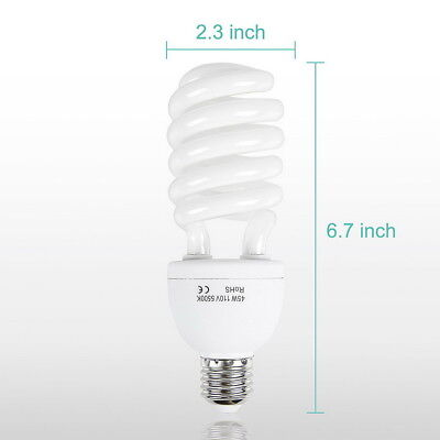 45W Energy Save Bulb 5500K Daylight Light Bulbs Photography Equipment