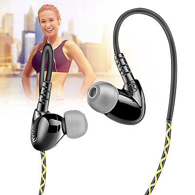 In-Ear Headphones Heavy Bass Noise Cancelling Earphones Wired Earbuds Ear Hooks