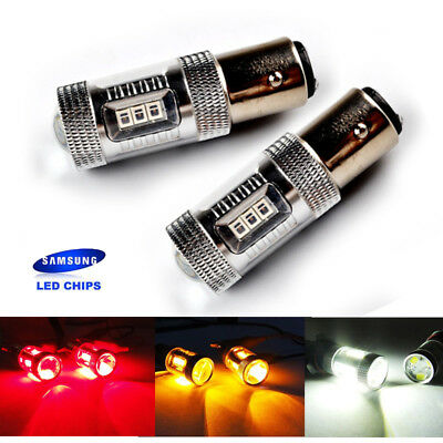 2x 15W SAMSUNG LED BA15S P21W 7506 Bulb Sidelight Reverse Tail Stop Light DRL