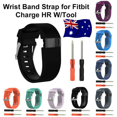 Replacement Silicone Wristband Strap Watch Band Kit For Fitbit Charge HR Large