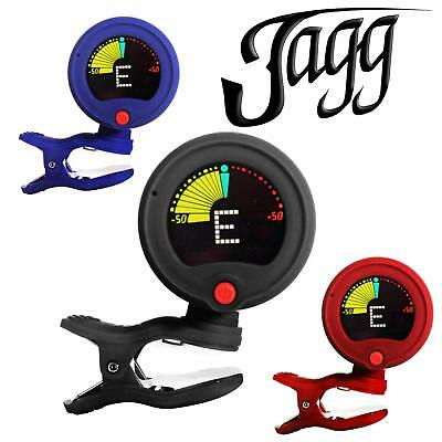 Jagg Clip on Guitar Tuner & Metronome Chromatic Acoustic Electric Violin Ukulele