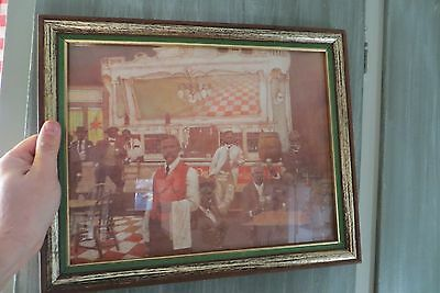 Miller High Life advertising bar patrons drinking old fashioned picture sign